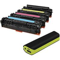HP 312A Compatible 4 Colour Laser Toner Q-Connect CF440AM With Free Reviva Powerbank