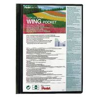 Pentel Recycology Wing Presentation Display Book Black