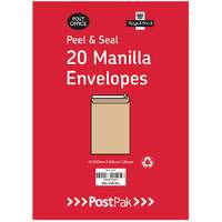 Postpak C4 Peel And Seal Manilla Envelopes Pack of 200 9730466