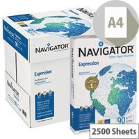 Navigator Expression Printer Paper A4 90gm White 2500 Sheets