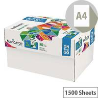 Navigator Universal On The Go 80gsm White Printer Paper 1500 Sheets NAVA4OTG