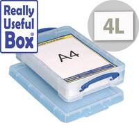 Really Useful 4 Litre Box for A4 Paper Clear 395x255x80mm