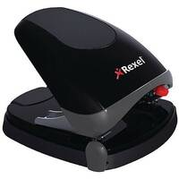 Rexel Easy Touch Hole Punch 30 Sheet Capacity Black/Grey 2102575