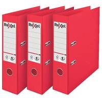 Rexel Choices Lever Arch File A4 Polypropylene Red 3 For 2 RX810224