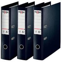 Rexel Choices Lever Arch File Foolscap Polypropylene Black 3 For 2 RX810227
