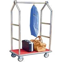 Hotel Bellboy Luggage Trolley Chrome Finish 373240