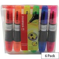 Stabilo Luminator Highlighter Pens Assorted Colours Wallet  Pack of 6 71/6