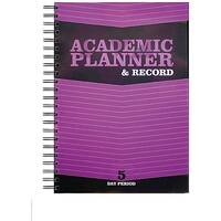 Silvine Teacher's Academic Planner and Record 5 Period Day Purple EX201 - Fold out academic year planner with world map - Sections for duties, meetings, expenses and timetables