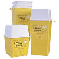 Clinical Waste Bin Sharps Disposal Box 4 Litres H250 x W190mm