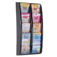 Panorama Wall Mounted Leaflet Dispenser 8x1/3 A4 Black