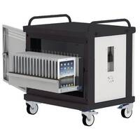 Tabstore Secure Charge Trolley For Up To 16 Tablet Devices  Light Grey/Black