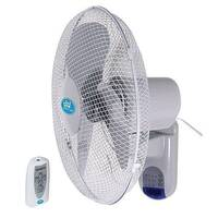 16in Wall Mounted Fan With Remote Control