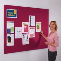 Frameless Felt Noticeboard 1200x2400mm (Hxw) Burgundy