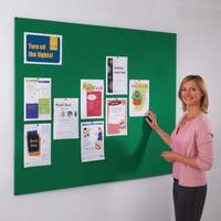 Frameless Felt Noticeboard 1200x2400mm (Hxw) Green