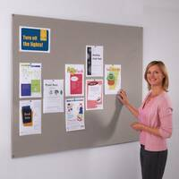 Frameless Felt Noticeboard 1200x2400mm (Hxw) Grey