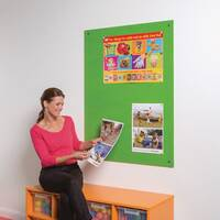 Frameless Colourplus Fabric Noticeboards 900x600mm (Hxw) Apple Green