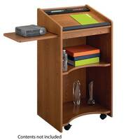 Executive Mobile Lectern Medium Oak (Mo)