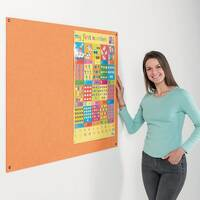 Eco-Colour Frameless Resist-A-Flame Board 1200x1200mm Orange
