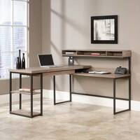 Streamline L-Shaped Home Office Desk W1542mm Salt Oak Finish