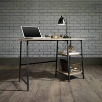 Industrial Style Home Office Bench Desk In Charter Oak Effect