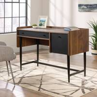 Hampstead Park Mid Century Style Compact Home Office Desk W1180mm Grand Walnut Finish