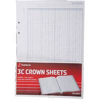 Twinlock Crown 3C F3 Double Cash Ledger Refill Sheets Pack of 5