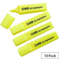 HiGlo Highlighter Pens Yellow Pack 10 WX01111