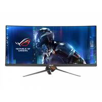 "ASUS ROG SWIFT PG348Q - LED Computer Monitor - curved - 34"" - 3440 x 1440 - IPS - 300 cd/m² - 1000:1 - 5 ms - HDMI, DisplayPort - speakers - armor titanium, plasma cooper"