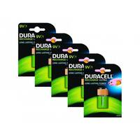 Duracell - Battery 9V NiMH ( rechargeable ) 170 mAh (pack of 5)