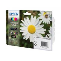 Epson 18XL Multipack - 4-pack - XL - black, yellow, cyan, magenta - original - blister with RF/acoustic alarm - ink cartridge - for Expression Home XP-212, 215, 225, 312, 315, 322, 325, 412, 415, 422, 425