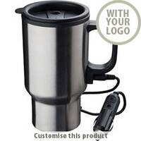 "Heating Stainless Steel Thermo Cup ""Portland"" Travel Mug 113634 - Customise with your brand, logo or promo text"