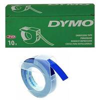 Dymo Embossing Tape 9mm x3 Metres Blue Pack of 10 S0898140
