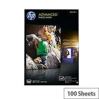 HP 10x15cm Advanced Glossy Photo Paper 250gsm White (Pack of 100)