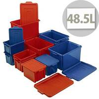 Storemaster Jumbo Crate With Lid 48.5L Blue L560xW385xH280mm