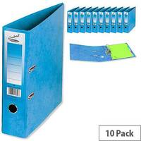 Concord Contrast Lever Arch File Laminated Capacity 65mm A4 Sky Blue Pack of 10