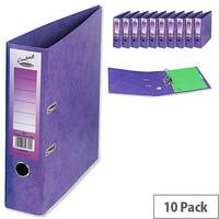 Concord Contrast Lever Arch File Laminated Capacity 65mm A4 Purple Pack of 10