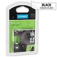 Dymo D1 Tape 45010 12mmx7m Black on Clear Ref S0720500