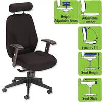 Office Driver Chair with Arms Black W520 x D480 x H500-640mm Influx Energize