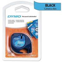 Dymo LetraTag Tape Plastic 91205 12mmx4m Ultra Blue S0721650