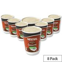 Nescafe &Go Cappuccino Coffee Foil Sealed Cups for Drinks Machine A02784 Pack 8