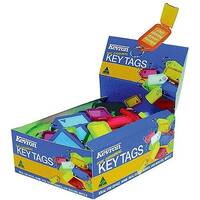 Kevron Plastic Clicktag Key Tag Assorted Pack of 100