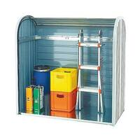 Outdoor Storage Locker 2-piece Roller Metallic Silver 328664