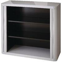 Paperflow Easy Office Cupboard 1 Metre Grey/Grey with 2 Shelves EE000005