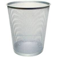 Q-Connect 18 Litre Waste Basket Mesh Silver KF00849