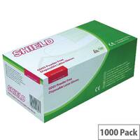 Disposable Powder Free Latex Gloves Clear XL Pack 10x100 Shield GD05