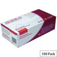 Disposable Powdered Latex Gloves Natural Large Box of 100 Shield GD45