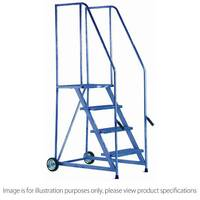 Standard Version Tilt And Push Mobile Steps Max Height 1.674M Painted Platform Height 0.76M