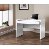 Luxor White Glass Workstation