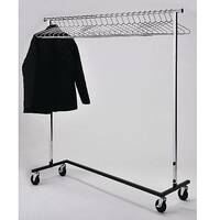 Mobile Chrome Coat Rack Kit With 25 Chrome Hangers