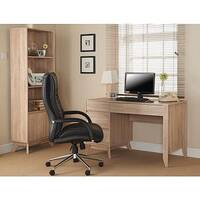 Retro Style Oak Veneer Effect Workstation